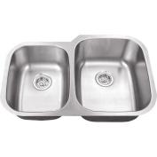 Schon 9.1m x 0m x 9.1m x 0m Double Bowl 18 Gauge Kitchen Sink