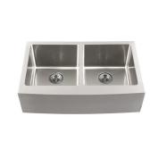 Schon 9.1m x 0m x 9.1m x 0m Double Bowl Farmhouse Kitchen Sink