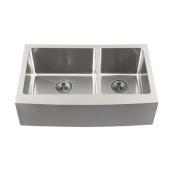 Schon 10m x 0m x 10m x 0m Double Bowl Farmhouse Kitchen Sink