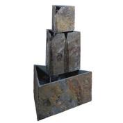 Stacked Triangles Floor Water Outdoor Fountain