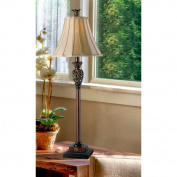 Kenroy Home Iron Lace Buffet Lamp, Golden Ruby