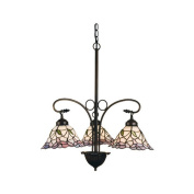 Meyda Tiffany Victorian Daffodil Bell 3 Light Chandelier