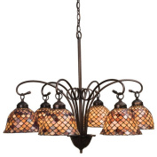 Meyda Tiffany 6 Light Tiffany Fishscale Chandelier