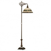 Tiffany Roman Bridge Arm Floor Lamp