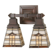 Meyda Tiffany Arrowhead Mission 2 Light Wall Sconce