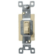 Morris Products 20A-120/277V Commercial Single Pole Toggle Switch in Ivory