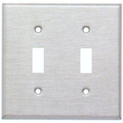 Morris Products Two Gang and Toggle Switch Metal Wall Plates in White
