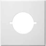Two Gang Range and Dryer Metal Wall Plates in White