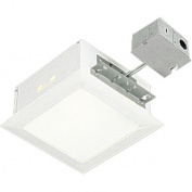 150W Incandescent Complete Square Non-IC Recessed Light with Housing