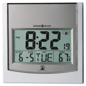 "TechTime II Radio-Controlled LCD Wall/Table Alarm Clock, 6""W x 1""D x 6""H"