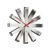 Ribbon Clock in Steel