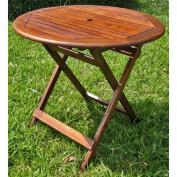 Acacia Patio Round Folding Dining Table