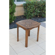 Acacia Patio Sunburst Side Table
