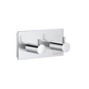 Pool Double Towel Hook in Polished Chrome