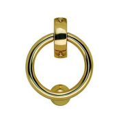 Ring Door Knocker in Polished Brass