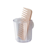 InterDesign Suction Storage Cup for Toothbrushes, Razors, Cosmetics, Hair Accessories - Clear
