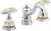 Antique Briar Rose Ceramic Handle Insets for Bath Faucets
