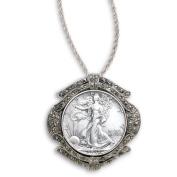Walking Liberty Half Dollar Marcasite Coin Pin/Pendant