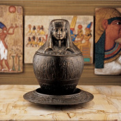 ImSety Iron Canopic Jar on Ritual Plate