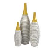 Modernly Designed Andean Multi Glaze Vases-Set of 3