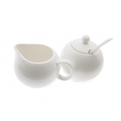 White Basics European Sugar and Cream Set