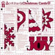 Hot Off The Press Templates 30cm x 30cm -Christmas 3-D Pop-Ups