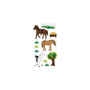 Classic Vellum and Glitter Horses Sticker