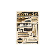 Cardstock Stickers-Gift Of Music