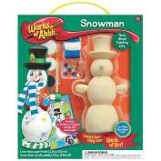 Works of Ahhh Winter Snowman Wood Paint Kit