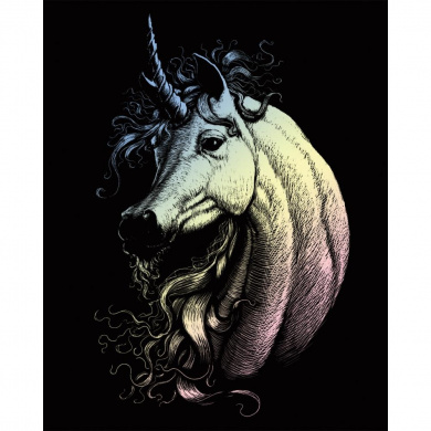 Royal Brush Holographic Foil Engraving Art Kit, 20cm by 25cm , Proud Unicorn