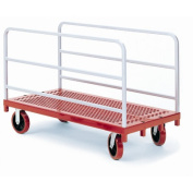 Heavy Duty Panel / Sheet Mover Quiet Poly Casters, 2 Fixed and 2 Swivel, 2 Uprights