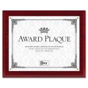 DAX Insertable Plaque, 27cm x 33cm , Walnut/Gold
