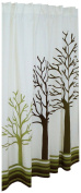 Woodland Cotton Shower Curtain