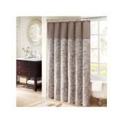Aubrey Polyester Faux Silk Shower Curtain