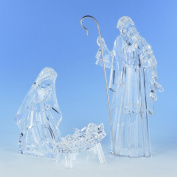 Large Three Piece Holy Family Figurine Set