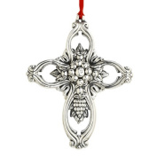 Francis I Pierced Cross Sterling Ornament