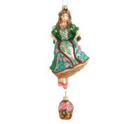 NIne Dancing Ladies Blown Glass Ornament