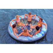 RAVE Sports Pool Floats Social Circle 6-Person Pool/Lake Lounge Clear 02328