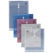 String Poly Envelope, Legal Top Opening, 2.5cm Expansion, Clear
