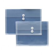 String A Long Poly Hide Envelope, Side Open, 2.5cm Expansion, Legal, Clear