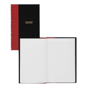 Account Book, Record-Ruled, 144 Pages, 20cm x13cm , Black/Red
