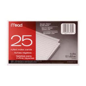 Cards Index Ruled 5 X 8 25 ct