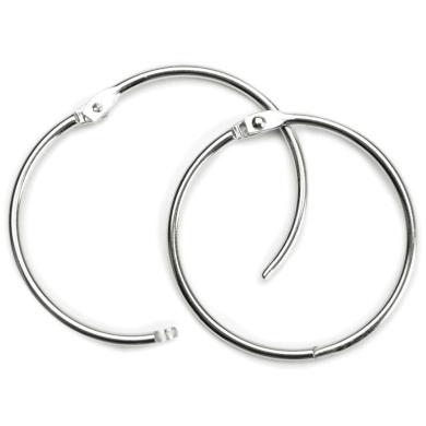 Binder Ring, Snap Closure, 7.6cm Diameter, 1 per Pack, Metal