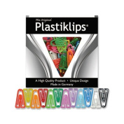 Plastic Paper Clips, Small, 1000/BX, Assorted Colours