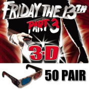 Friday the 13th 3D Glasses Ultimate Party Pack