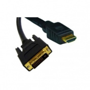 HDMI to DVI Cable, HDMI Male to DVI Male, CL2 rated, 4.6m