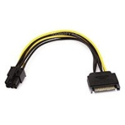 Branded 20cm SATA 15pin to 6pin PCI Express Card Power Cable