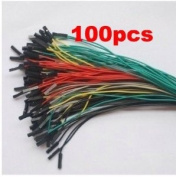 sunkee 100pcs 1p to 1p female to female jumper wire Dupont cable for Arduino 20cm