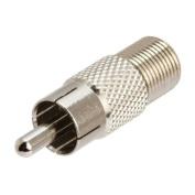 RiteAV - RCA Male to F-type Female Adapter