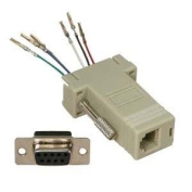 InstallerParts DB9 Female to RJ11/12 (6 wire) Modular Adapter Ivory